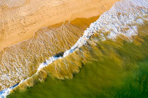 Aerial view on the beach of Salgados - Vue aérienne sur la plage de Salgados