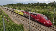 Thalys PBKA-trainset N° 4343 - Tour de France 2019. - Photo of Beugnâtre