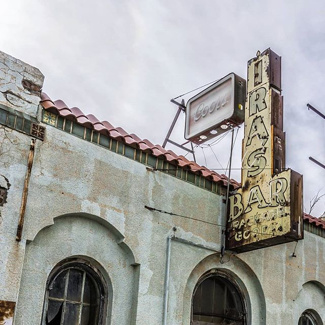 Ira's Bar, #abandoned in Nara Visa, #NewMexico. #travel #smalltown #neon #sign #signage #everything_signage #naravisa #landofenchantment