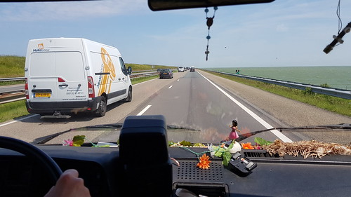 On the road on Afsluitdijk