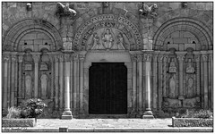 Dinan; La face Ouest de la Basilique Saint-Sauveur