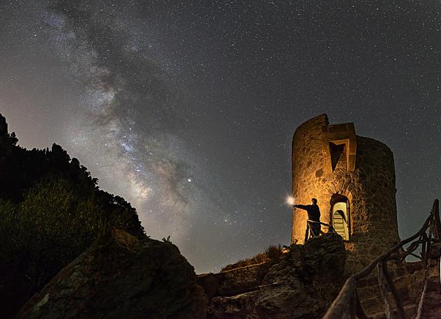 Vía Láctea en la Torre des Verger