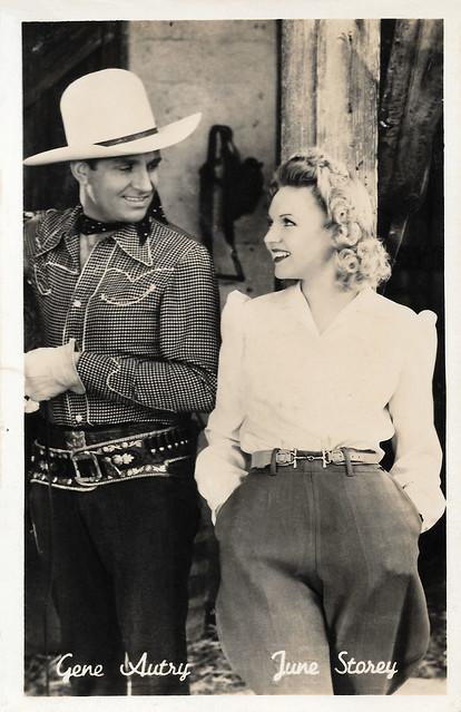 Gene Autry and June Storey