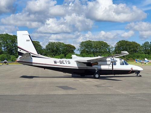 Twin Commander Aircraft LLC 695A M-BETS seen at Dublin Weston Executive Airport EIWT