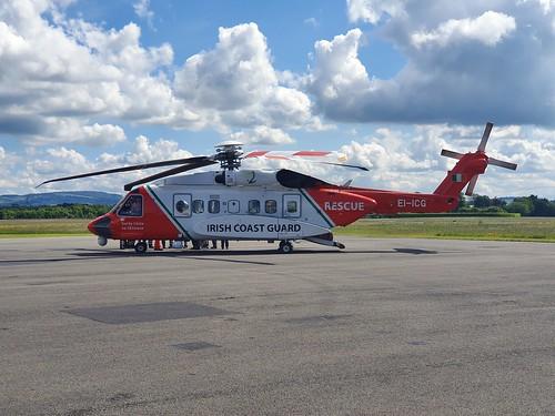 CHC Ireland Ltd Sikorsky S-92A Helibus EI-ICG seen at Weston Dublin Executive Airport EIWT