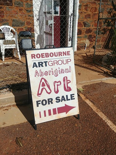 Roebourne Art Group sign