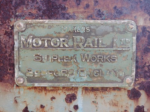 Simplex locomotive plate