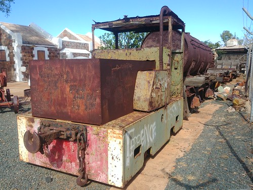 Simplex locomotive at former Roebourne museum