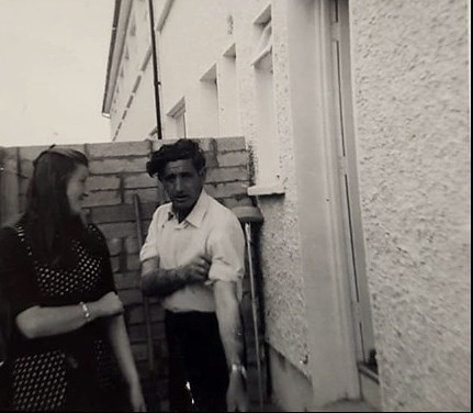Mary Gorman with Father in Law, Patrick Gorman 1972,  12 Alderwood Close.Thanks to Kevin Paul and the Gorman Family for the Photo