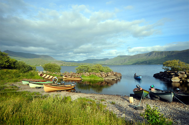 Boats on Lough Currane