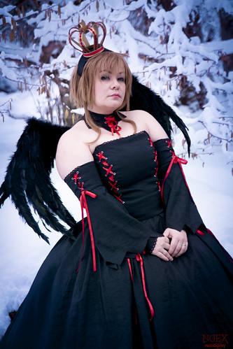 Sakura Black Dress Cosplay 02