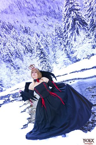 Sakura Black Dress Cosplay 03