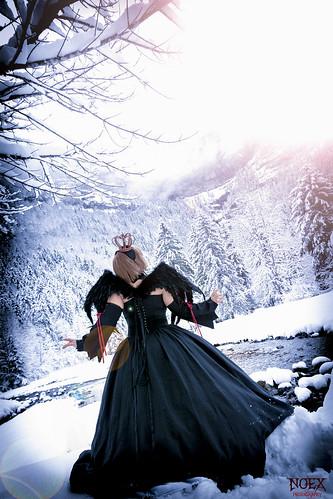 Sakura Black Dress Cosplay 04