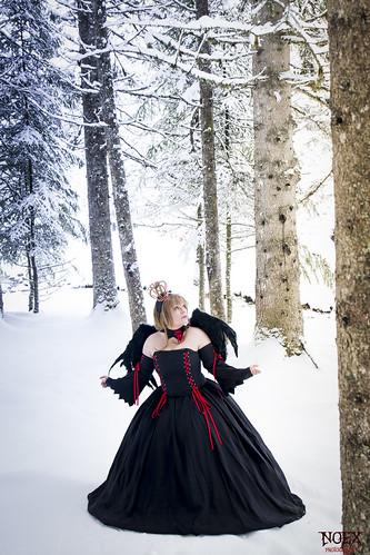 Sakura Black Dress Cosplay 01