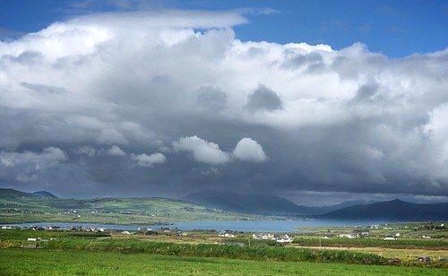 View to Caherciveen from Kerry Cliffs