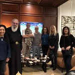 Welcoming Vassula and Monk Martinianos at the hotel