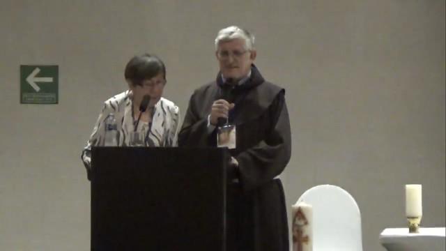 Fr. Petar with Marija translating