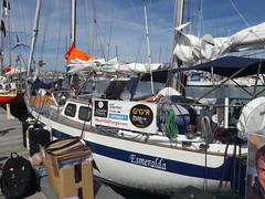 Pre-Race - Taking supplies on board Esmeralda.
