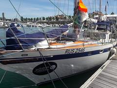 Pre-race - Igor Zaretskiy's 35' yacht, Esmeralda.