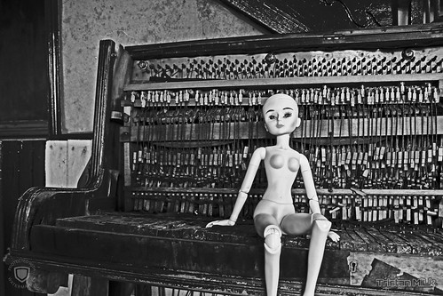 abandoned bjd on piano