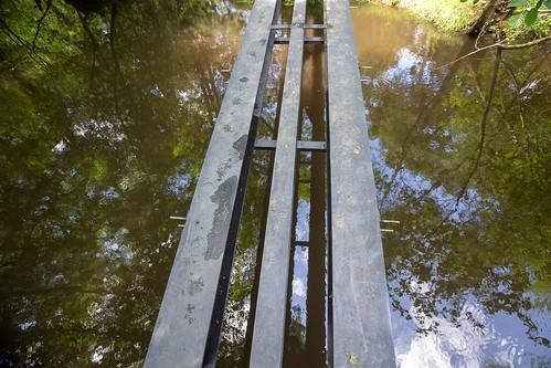 Tronçon 3 : Création d'une passerelle de 15m de long, ossature métallique en IPN