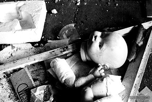 dropped abandoned dolls head