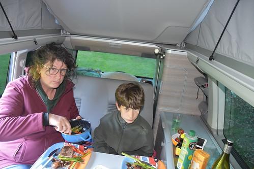 Maaltijd in de bus
