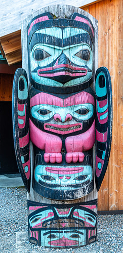 Preview of our holiday in Canada and Alaska. - Totem Pole at Icy Straight Point, Alaska.