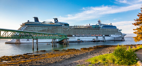 Preview of our holiday in Canada and Alaska. - Celebrity Eclipse Cruise Ship at Icy Straight Point, Alaska.