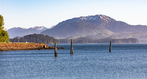 Preview of our holiday in Canada and Alaska. - Icy Straight Point, Alaska in the evening light
