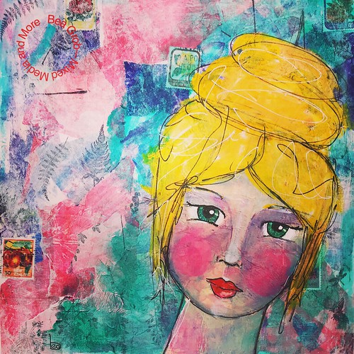 Babette Mixed Media on Watercolorpaper
