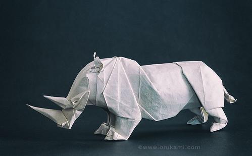Satoshi Kamiya Origami Rhino