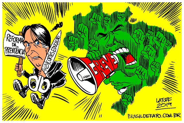 14 de junho: Greve Geral - Créditos: Carlos Latuff