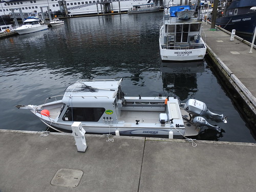 Hewes Craft fishing boat at dock