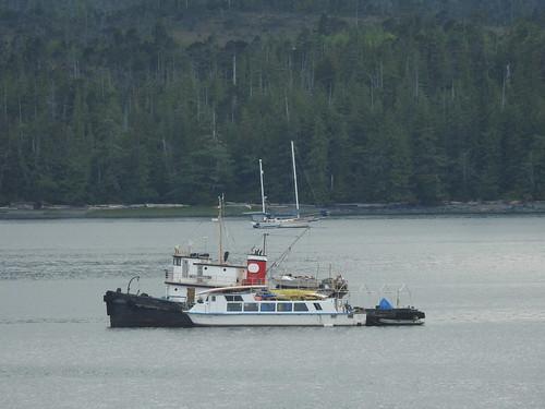 Tourboat, tugboat, sailboat