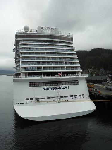 Stern of Norwegian Bliss cruise ship