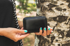 Woman hands with wallet