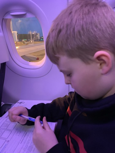 Working on the plane