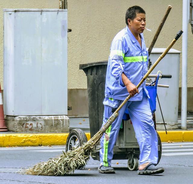 Sanitation worker, #Shanghai
