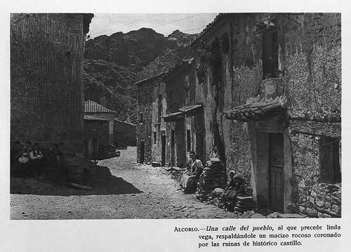 Alcorlo, una calle del pueblo