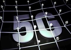 5G Netzwerk - Weiß