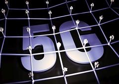 5G Netzwerk - sepia
