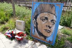 La stèle du colonel Rol-Tanguy et le tableau de Guy Denning