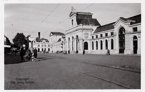 BE-5000 Namur Gare SNCB avec Tramway im September 1941