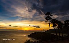 Beautiful Sunset on Promthep Cape, Phuket island, Thailand