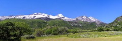 Springtime panorama of Dry Creek Canyon and Lone Peak