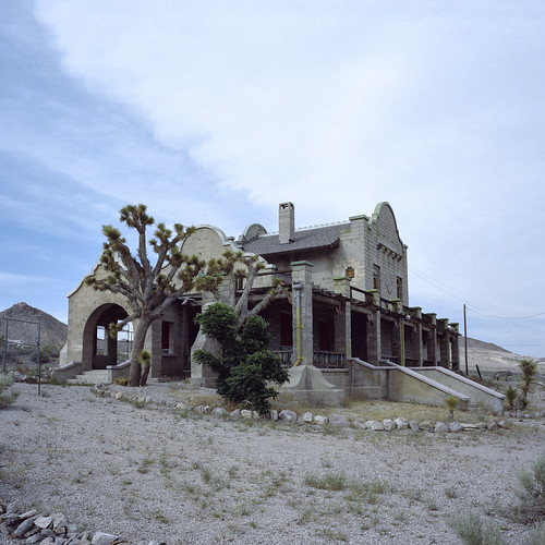 the train don't stop here no more. rhyolite, nv. 2016.