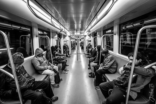 Line 1 -  Metro de Santiago - BW