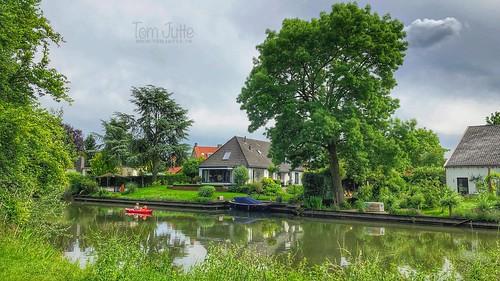 Kanovaren op de Kromme Rijn in Bunnik, Netherlands - 2669