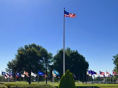 Flags at the US Army Cyber Center of Excellence
